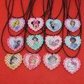 "[$4 Minimum]2017 New Fashion Girls Kids Gift Jewelry 19 Style Heart Pendant 17"" Short Rope Chain Necklace Free Shipping KS0176"