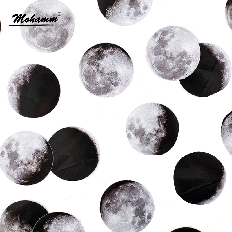 45 Pcs/box Cute Creative Moon Mini Paper Sticker Decoration Diy Ablum Diary Scrapbooking Label Sticker Stationery School Supply 45pcs box cute animal crystal ball mini paper decoration stickers diy diary scrapbooking seal sticker stationery school supplies