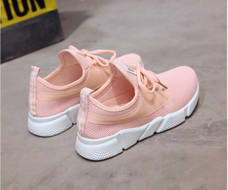 18 Summer Air Mesh Student Breathable Lace Up Outdoor Women Shoes Lightweight Woman Vulcanized Sneakers Shoes 8