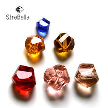 цена на AAA6 Free Shipping Wholesale Grade Crystal twisted cube Beads Multi Color 24faces shinning beads