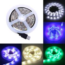 5V 2M USB Cable Power LED strip light lamp Waterproof RGB SMD 5050 Christmas Decor lamp