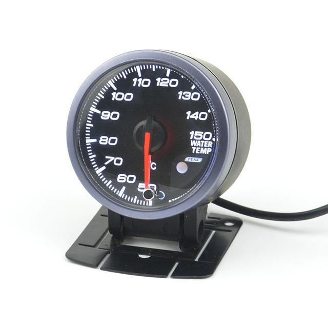60mm motor de Passo medidor de medidor de temperatura da água + Vagens bitola carro motor tecnologia função de advertência de 40-140 Celsius