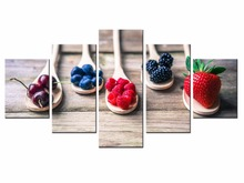 5 Pieces Factory Fruit Poster Series poster Art Print Wall Picture Canvas Painting Framed Home Decor/still life-26