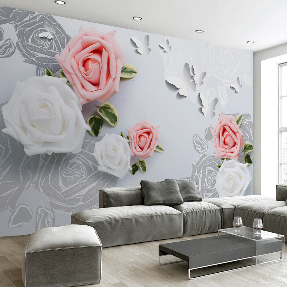 Custom 3D Photo Wallpaper Multicolor Flower TV Background Large Mural Living Room Bedroom Non-woven Wall Mural Wallpaper 3D stone vine leaves mountain large mural 3d wallpaper tv backdrop living room bedroom wall painting three dimensional 3d wallpaper