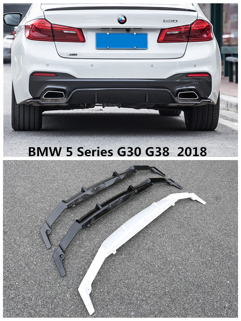 For BMW 5 Series G30 G38 528 530 540 2018 Carbon Fiber or ABS Rear Lip Spoiler High Quality Auto Bumper Diffuser