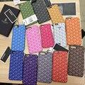 Francés de lujo goyar case cubierta de cuero colorida para el iphone 7 7 plus 6 6 s 6 plus very nice phone case