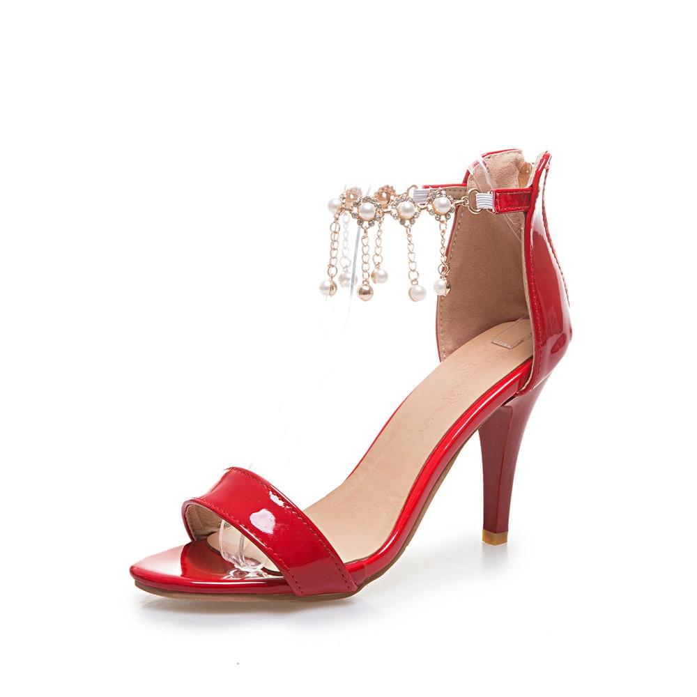 bb0a2997535260 Dames T863 Femme Plus 45 Mariage rouge Chaussures Danse Mode Or argent 31 D'été  Nouvelle Grande ...