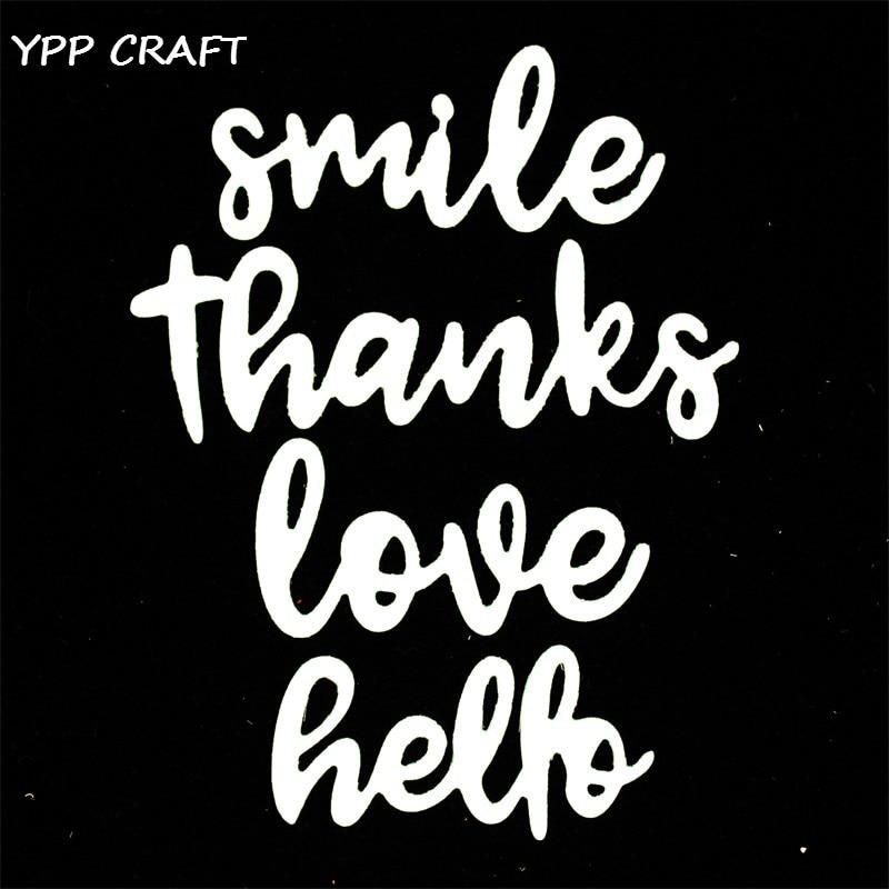Hello Bella! YPP CRAFT Smile Metal Cutting Dies Stencils for DIY Scrapbooking Stamp/photo album Decorative Embossing DIY Paper Cards