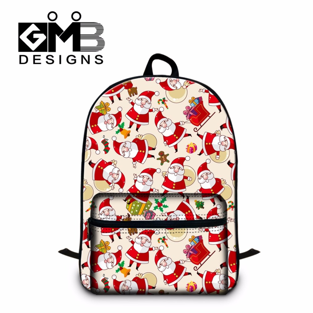 Santa Claus School Backpacks for Girls,Double layer school bags for Children,Best Primary students bookbags,cute day back pack
