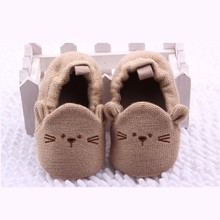2016 New style newborn baby shoes  winter soft cotton baby first walker  baby shoes
