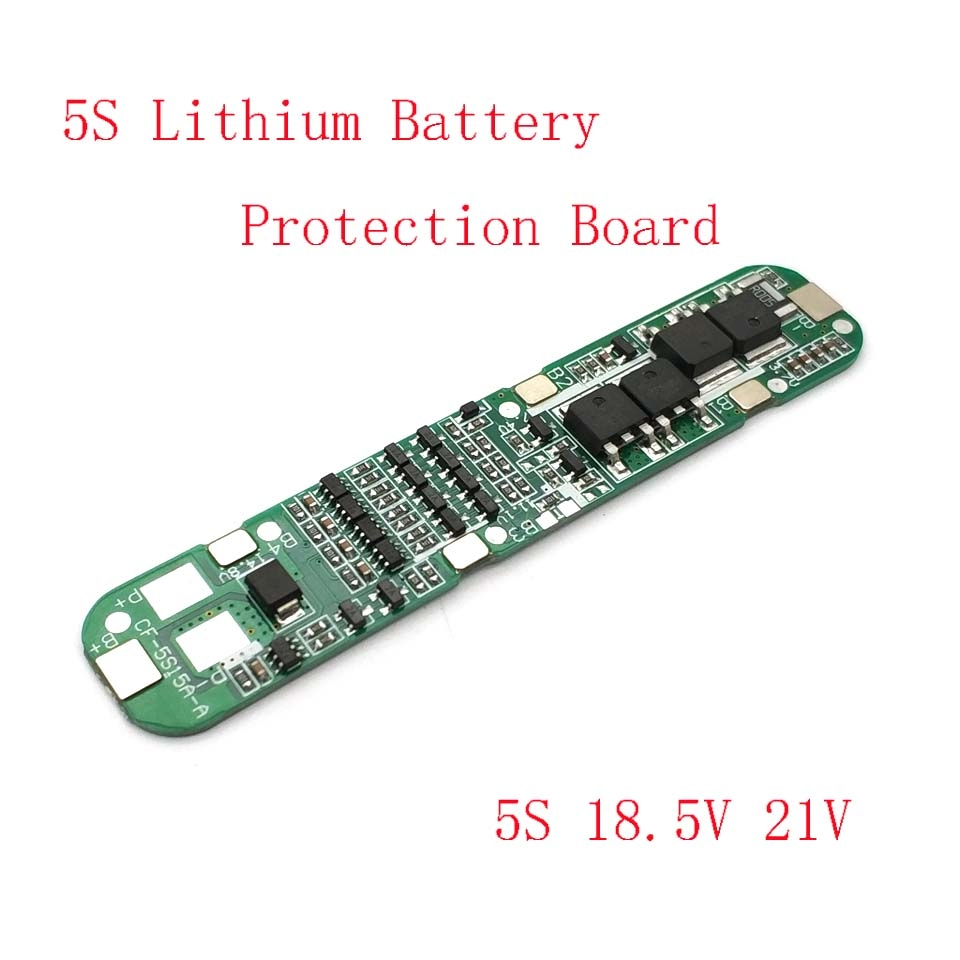 5S 15A Li-ion Lithium Battery 18650 Charger PCB BMS 18.5V Cell Protection Board Integrated Circuits