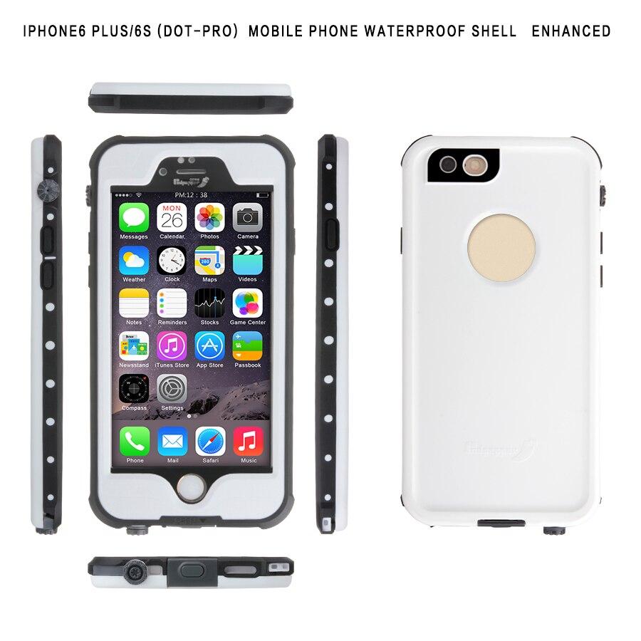 <font><b>Phone</b></font> Cover <font><b>Case</b></font> For <font><b>iPhone</b></font> 6plus PC+TPU Waterproof Shockproof dirt proof Armor Tempered Glass <font><b>Cell</b></font> <font><b>Phones</b></font> <font><b>Case</b></font> for 6splus