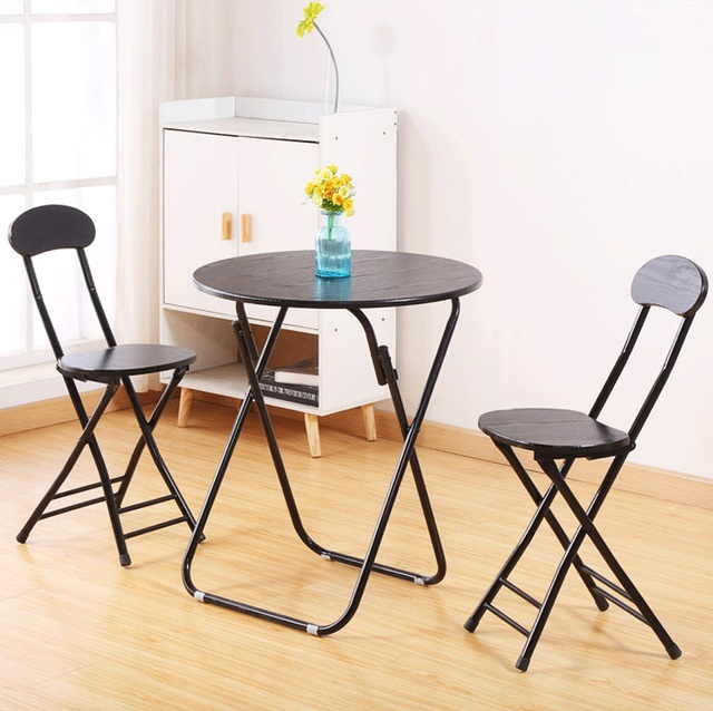 Us 98 89 3pcs Dining Table Set Kitchen Furniture Round With 2 Chair Dinning Patio Bistro In