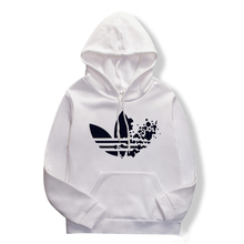 White sweatshirt, hoodie, printed casual pullover and long s
