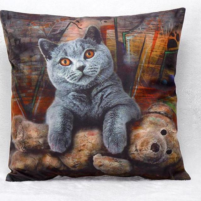 Cute Gray Small Short Plush Material Pillows Cushion Decorative Furnishing Sofa Stuffed Toy Whole