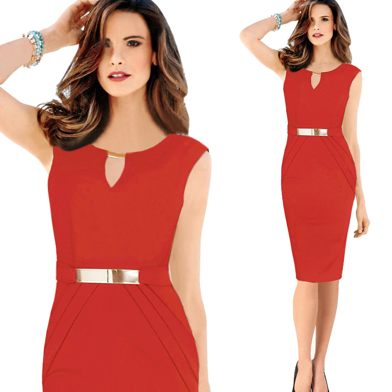 Women Summer Dress Sexy Bodycon Bandage Casual Club Pencil Dress Red 4XL Plus Size Robe Longue Femme 2018 in Dresses from Women 39 s Clothing