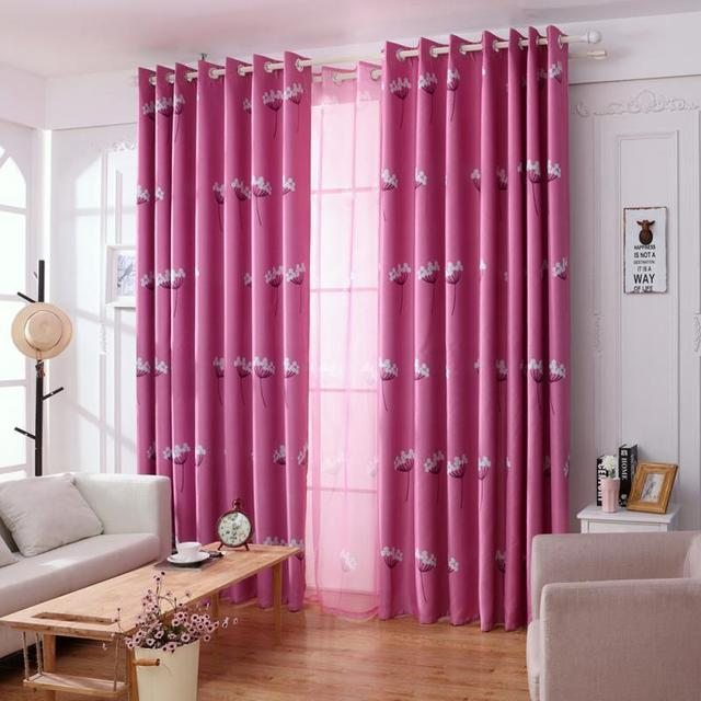 New Country Dandelion Pattern Window Curtain Home Decor Window ...
