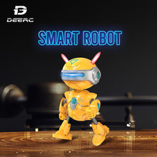 DEERC RC Robots Toys Mini Talking Smart Robot For Kids Educational Toy for Children Humanoid Robot Toy Sense Inductive RC(China)