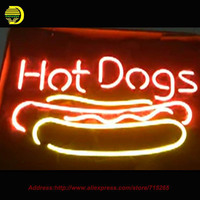 Hot DOGS Neon Sign Shop Neon Bulbs Commercial Neon Sign Glass Tube Handicraft Super Bright Fighting