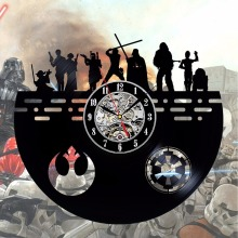 Star Wars Vintage Black Vinyl Wall Clock Dark Side Characters