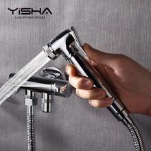 EASA смыватель для туалета пистолет очистки биде патрубок для биде двойной медный водопроводный кран один