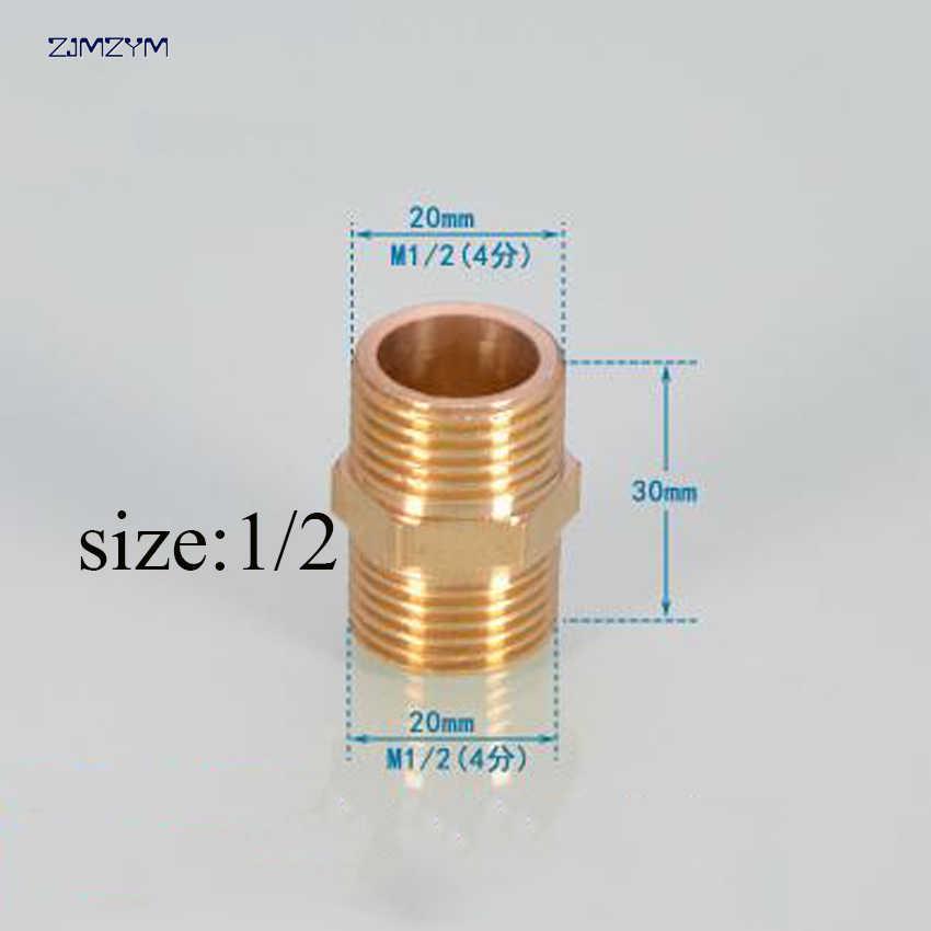Offre spéciale de haute qualité 1/2 '', 3/4'', 1 ''en laiton cuivre raccord adaptateur coupleur connecteur droit pour Tube de gazole d'eau