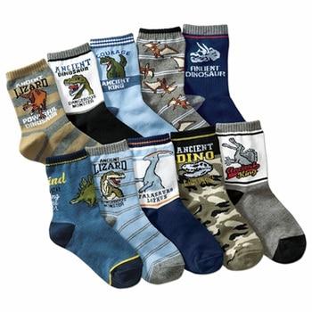 Lote de 10 pares de calcetines de algodón para niños de 4 a 12 años, calcetines de alta calidad para niños
