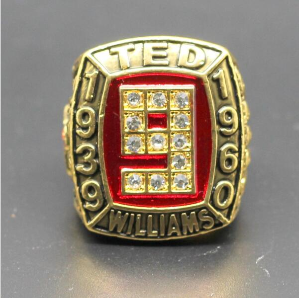 New Fashion gold plated Vintage 1939 1960 TED WILLIAMS 521 HOMERUNS Championship Ring Replica