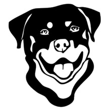 13.4*15CM Rottweiler Dog Car Stickers Cartoon Lovely Waterproof Vinyl Decal Styling Accessories