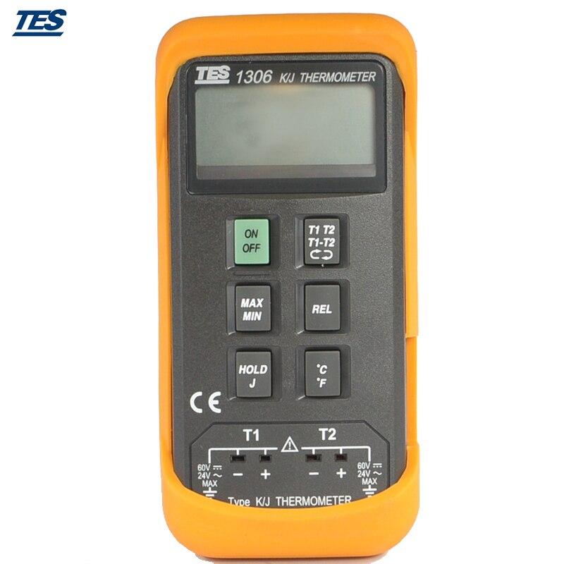 TES TES1306 TES-1306 K//J Type Thermometer