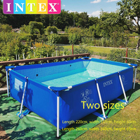 2019 Intex oversized family adult bracket swimming pool home thickened large children inflatable fishing pond