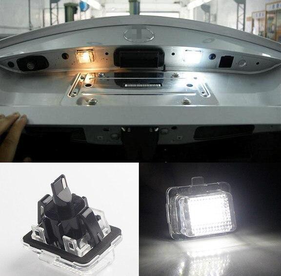 Error Free White LED License Plate Light Lamps: Mercedes Pre-LCI W204 W212 W221 2pcs white led license plate light lamps for nissan 350z 370z gtr infiniti g37 g35