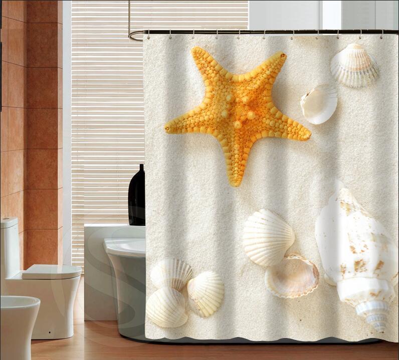 Popular Shell Fashion Custom Shower Curtain Bathroom Decor