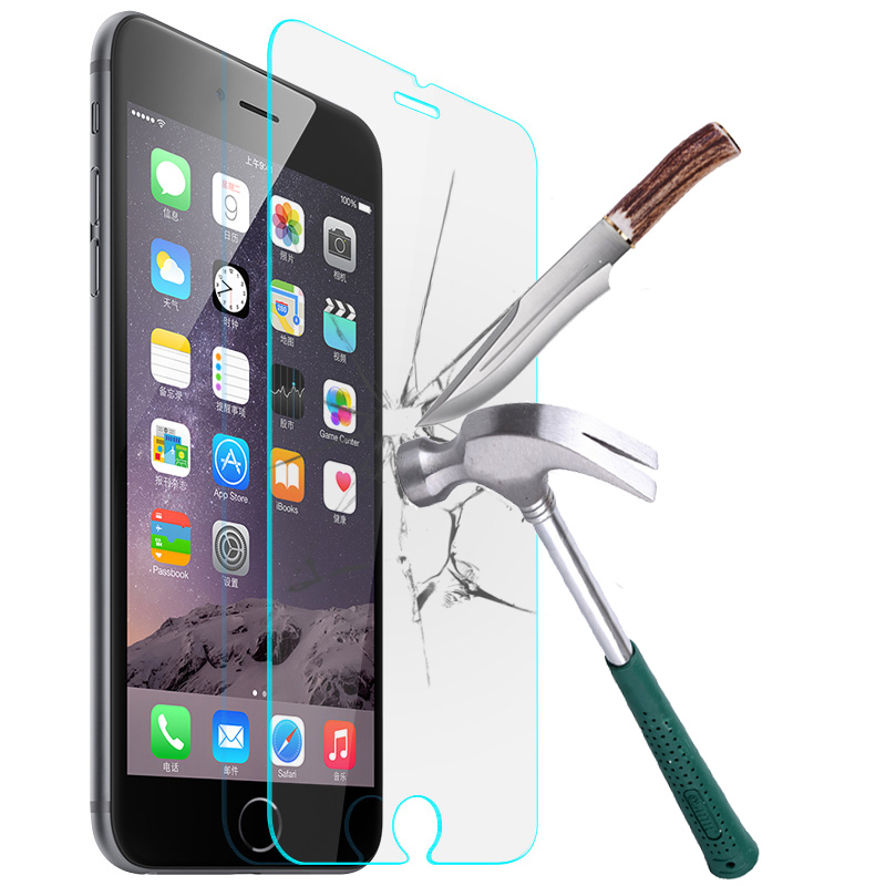 Top Quality Tempered Glass Screen Protector Case For iPhone 8 7 X 4 4S 5 5S 5C SE 6 6S Plus 7 Plus Protective Film Phone Cover