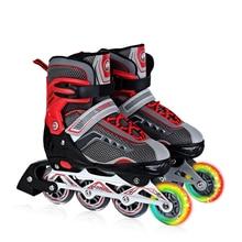 Adjustable Single Flashing Roller Skate Shoes For Adult Begginer Unisex Inline Skate Daily Street Brush Skating Free Ship IA09