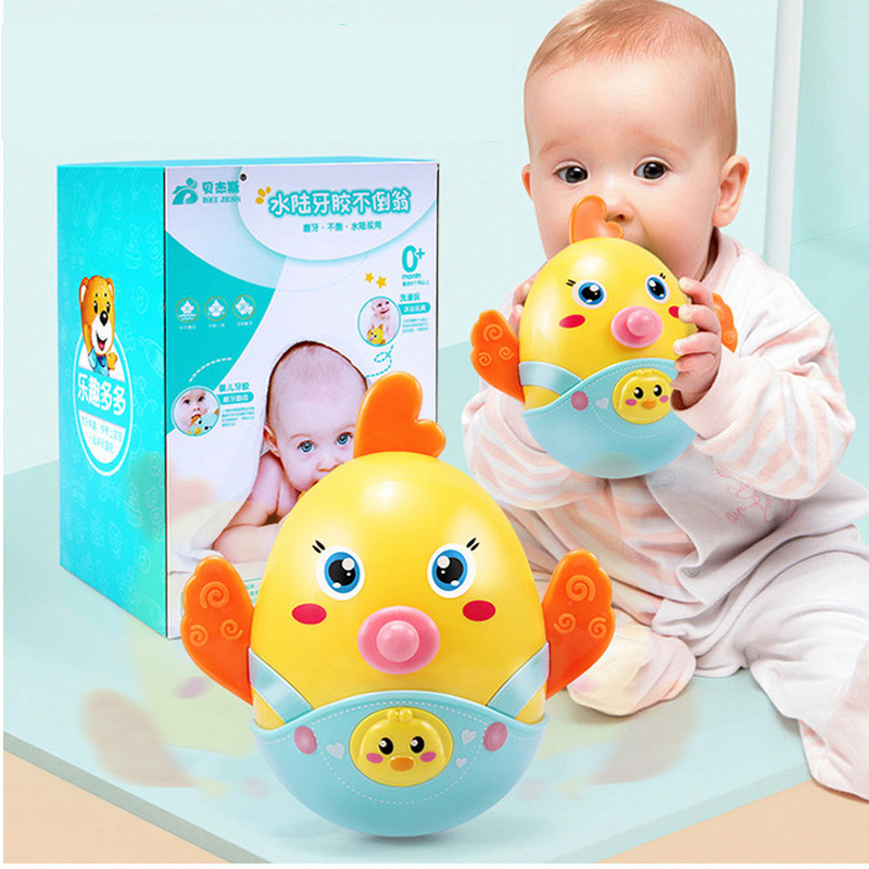 Baby Mobiles bell Nodding Tumbler rattles Roly-poly Fun for Newborn Gift Cartoon 0-12 Months Baby Teether Early Puzzle rattle