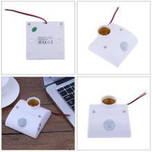E27 PIR Motion Sensor Light Lamp Holder Switch Wall Light Lamp Base Motion Detector for Indoor Outdoor Corridor Garden Lighting