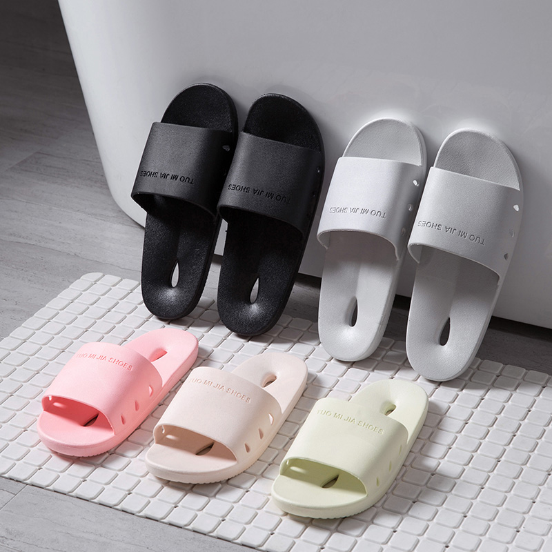 6e4fbf4dcc392b Indoor plastic soft soles bathroom bath non slippers sandals slippers women  summer men s home shoes-in Bottles