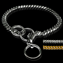 3mm Diameter Strong Silver Gold Chrome Steel Metal Dog Training Choke