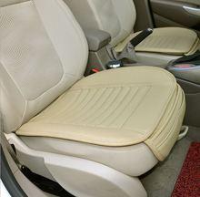 I conducenti di auto cuscino del sedile di Bambù Del Carbone di Legna Auto Anteriore auto Cuscino Copertura di sede Pad in pelle di Usura resistente allusura auto pastiglie