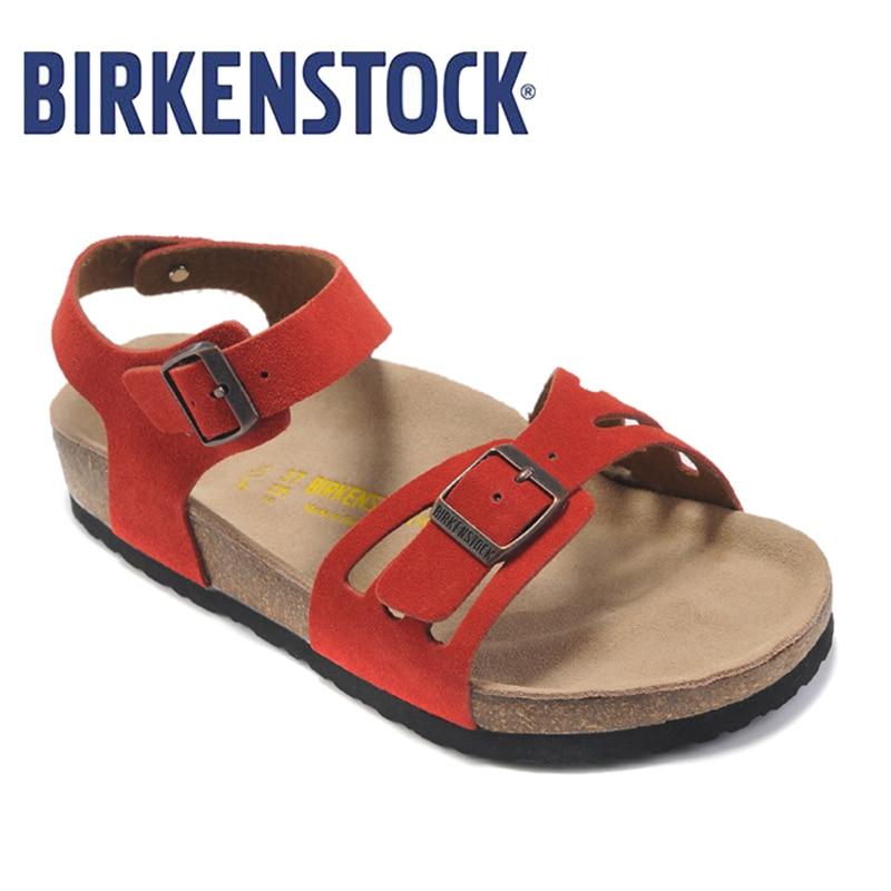 2018 Original Birkenstock Women Beach Slippers Slides Sandals Summer Fashion Shoes Women Unisex Shoes Slippers Women 809 birkenstock summer arizona soft footbed leather sandal women shoes unisex shoes modis 802 slippers women slippers outdoor