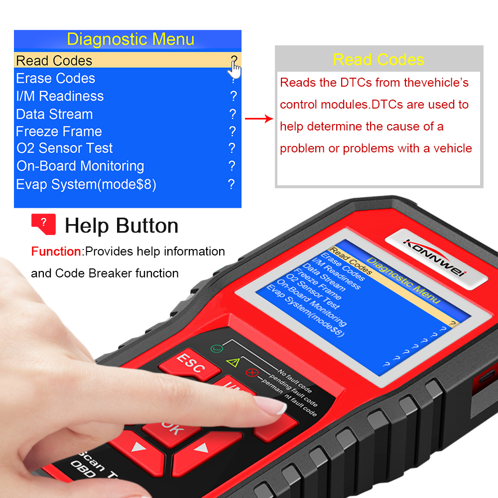 Image 2 - OBD2 ODB2 Scanner Auto Diagnostic Scanner KONNWEI KW850 Full Function Car Diagnosis Car Scanner Universal OBD Engine Code Reader-in Code Readers & Scan Tools from Automobiles & Motorcycles