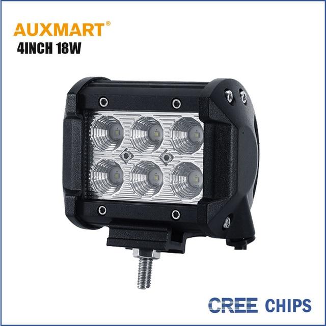 Auxmart 4 inch 18 Вт Обломоки Cree LED работы светлое пятно наводнение луч offroad авто лампы для mercede ford focus, chevrolet cruze bmw e46 e39