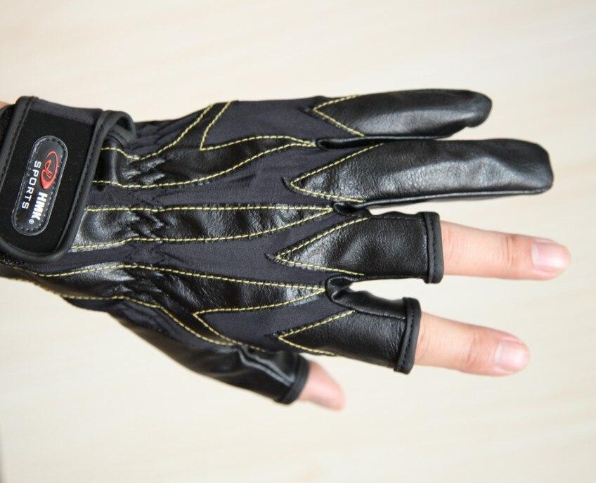 Fingerloser Fischen-im Freiensport-Handschuh bequemes PU drei - Angeln - Foto 3