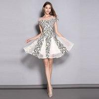 Пикантные женские летние платье Для женщин элегантное платье с открытыми плечами Цветочный принт кружевные вечерние платья в стиле пэчвор