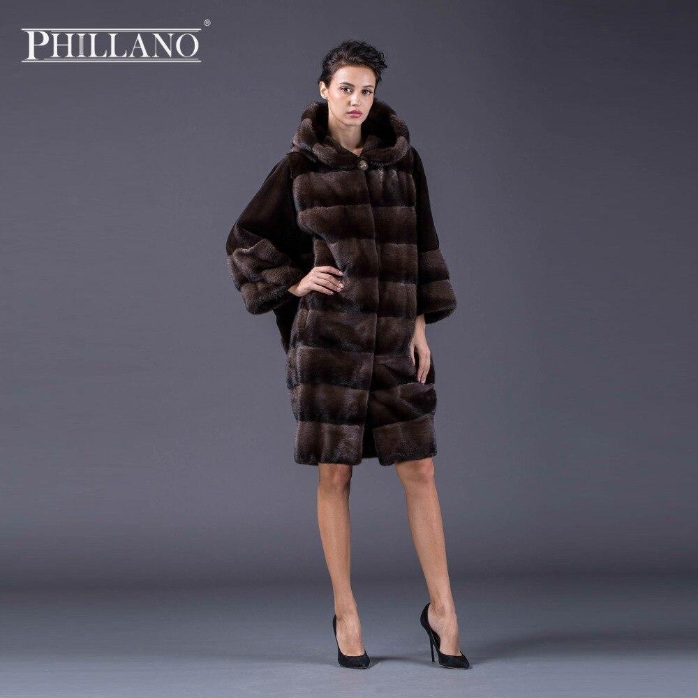 PHILLANO Abrigo de piel de invierno con mangas de murciélago Ropa de - Ropa de mujer - foto 5