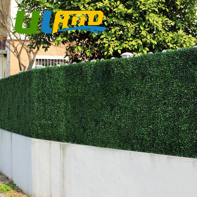 Uland Artificial Boxwood 24 Panels 25x25cm Decorative Artificial