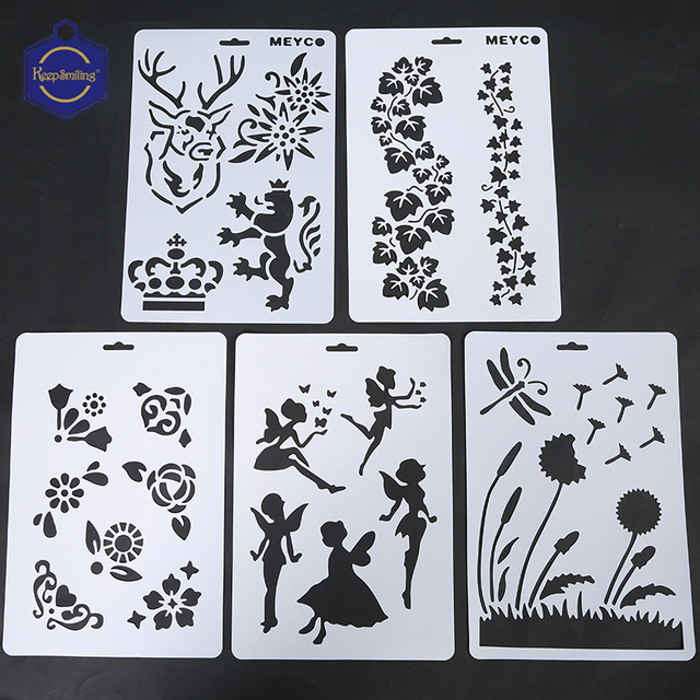 Creative PP painting template letter hollow 21 drawing tools DIY ...