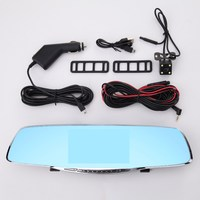 Dual Lens 1080P Car DVR 5 Inch Car Rearview Mirror Digital Video Camera Recorder Car Accessories With Original Package
