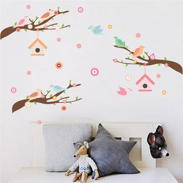 High Quality Birds Branch Wall Sticker For Kids Rooms Wall Decals Art Home Decor Wedding  Decoration Mural Kidu0027s Children Room Decor